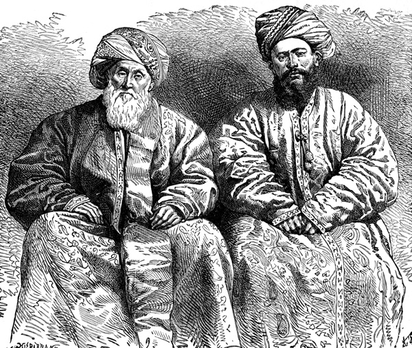 Persian Clothing - Usbek and Tajik Men