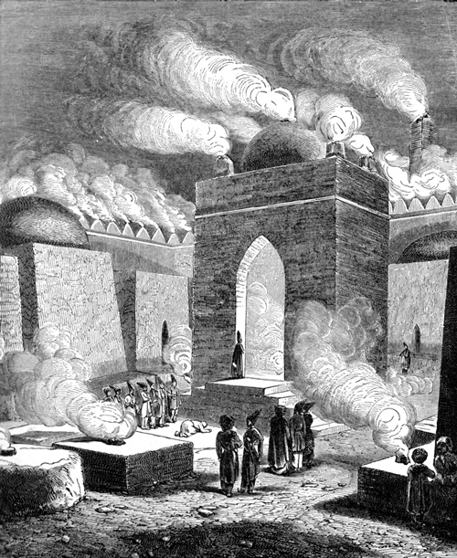 Persian Empire - Parsee Temple of Fire at Atech-Ga