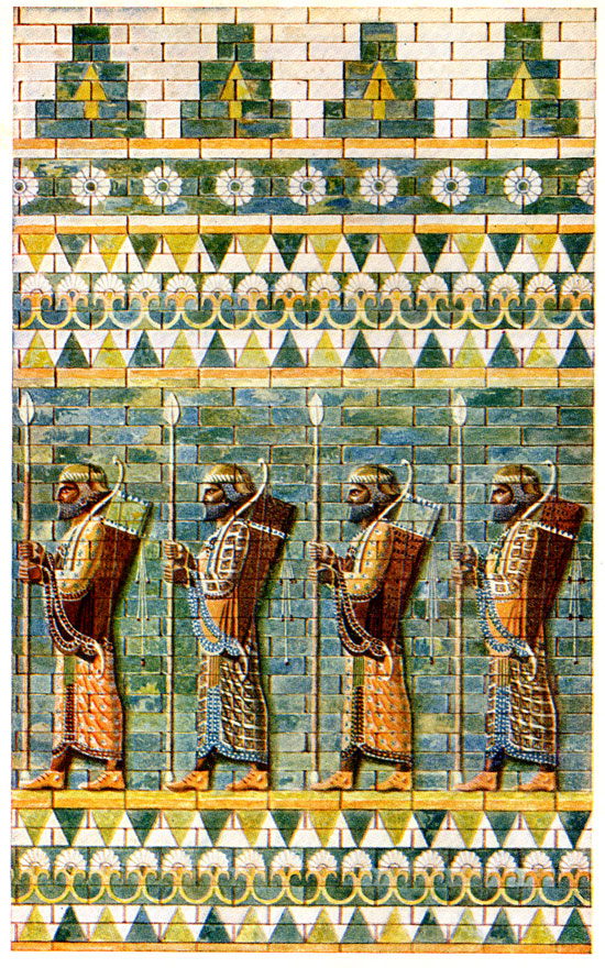 Persian History - Frieze of Archers from the Palace of Darius at Suza