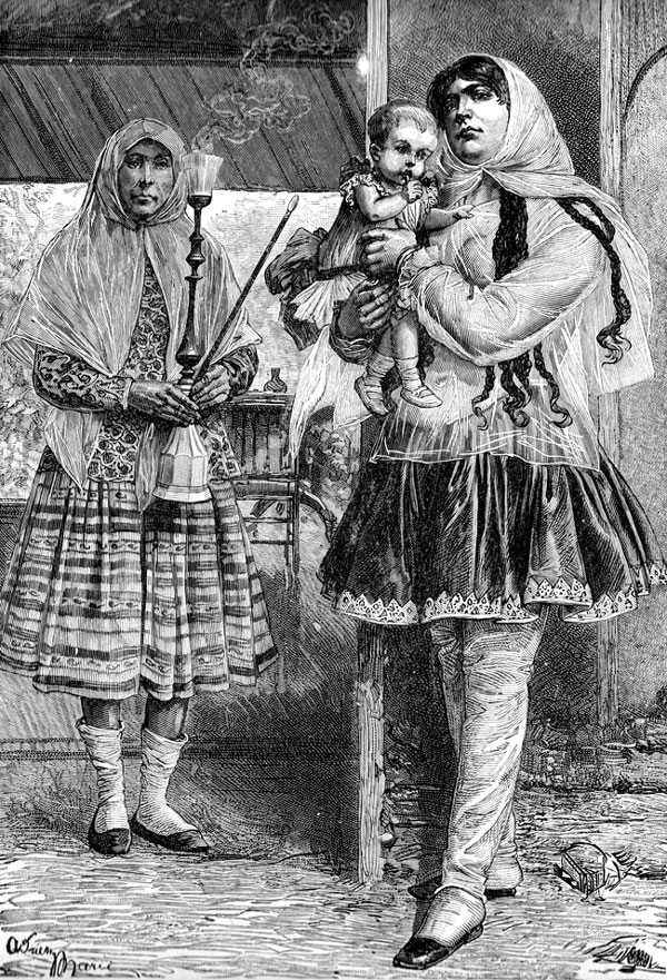 Persian Women -  Mussulman Nurses and Child