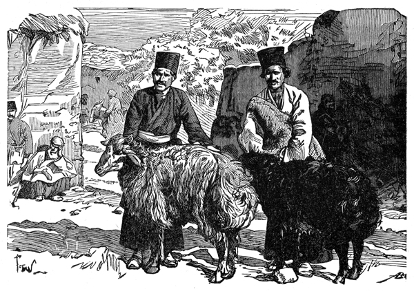 Persians - Man with Mountain Sheep of Kerout