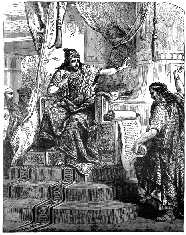 Phoenicians - Priest Denouncing Judgments to the King