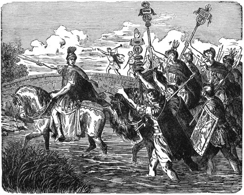 Pictures of Julius Caesar - Caesar Crossing the Rubicon