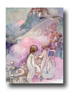 Pictures of Children - 8 :: Mr. Bhaer and Jo