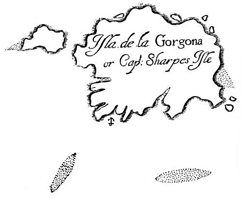 Pirate Treasure Map - Isla de la Gorgona