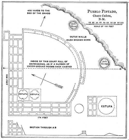 Pueblo Indian Houses - Plan of Pueblo Pintado