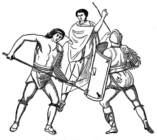 Roman Gladiators - Gladiators in Combat