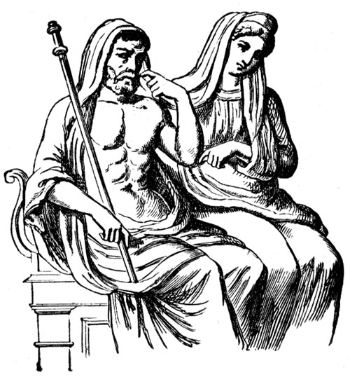 Roman Gods - Pluto and his Wife