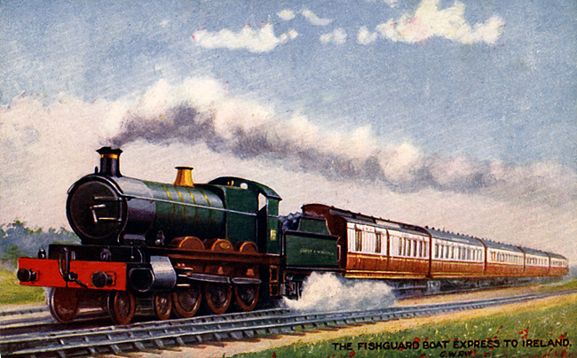 Steam Trains - The Fishguard Boat Express to Ireland