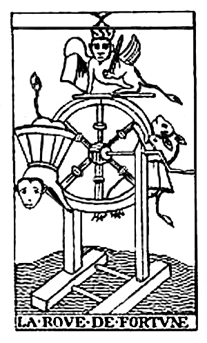 Tarot Cards - La Roue de Fortune (The Wheel of Fortune)