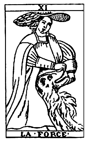 Tarot Cards - La Force (Strength, or Fortitude)