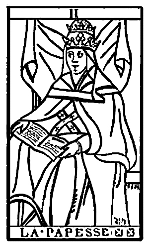 Tarot Cards - La Papesse (The Papess, or The Female Pope)