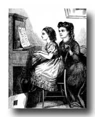 Victorian Clipart :: Music Lessons