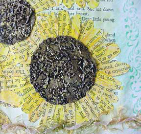 Altered Book Page Ideas ~ Summer