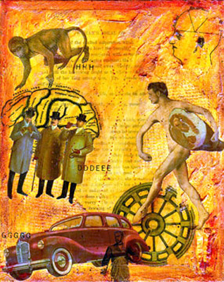 Collage Mixed Media ~ Woman's Ideal of Man #2