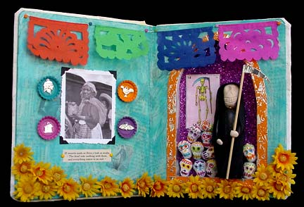 Book Art Sculpture ~ Day of the Dead