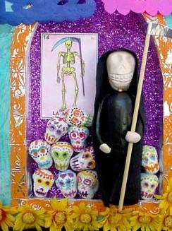 Book Art Sculpture ~ Day of the Dead