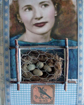 Found Object Assemblage :: The Gift :: Karen's Whimsy