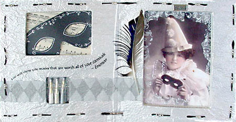 Gesso Altered Book ~ Masquerade