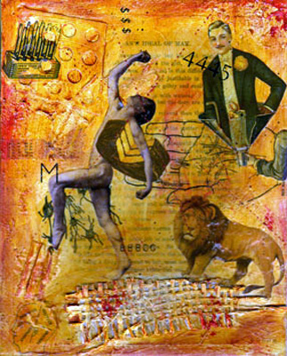Mixed Media Collage ~ Woman's Ideas of Man #1 Main