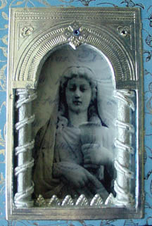 Art Assemblage ~ Saint Dymphna's Medal