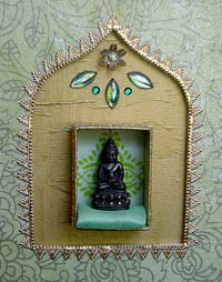 Mixed Media Assemblage ~ Thai Buddha