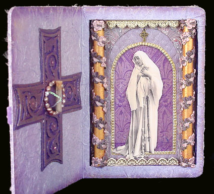 Woman Praying Reliquary ~ Christopher's Hair