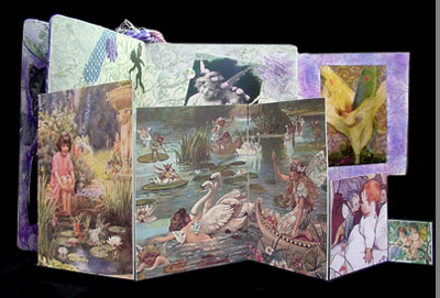 Altered Book Art ~ 18 Wishes Fold Out