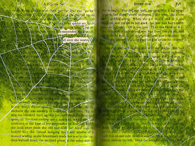 Altered Book Pages ~ A Cup of Sky