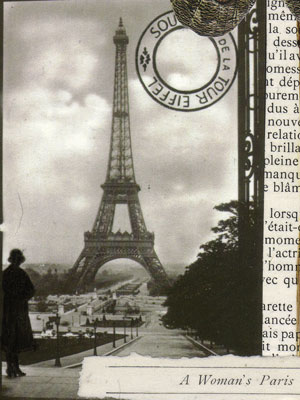 Collage Paper Art ~ A Woman's Paris-Fall
