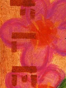 Mixed Media Canvas Art ~ Fleur
