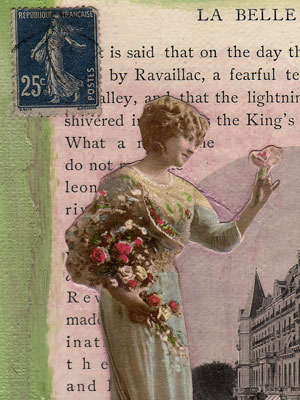 Mixed Media Collage Art ~ La Belle France