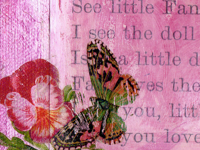 Vintage Collage Art ~ Little Fan 2