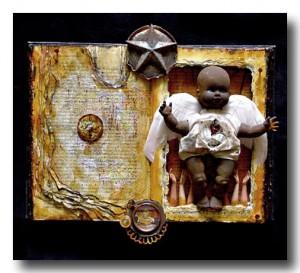 Mixed Media Art :: The Children's War :: Karen's Whimsy