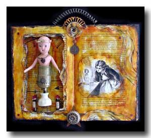 Found Object Sculpture :: Vision of Light :: Karen's Whimsy