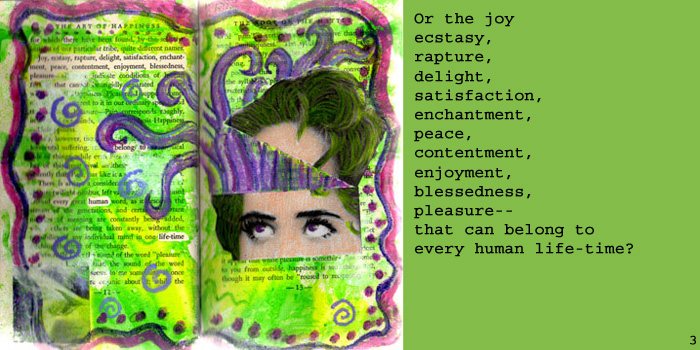 Altered Book Journal ~ The Art of Happiness