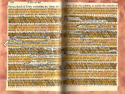 Altered Book Pages - Bread Poem