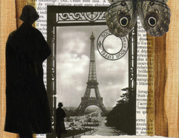 Collage Paper Art ~ A Woman's Paris