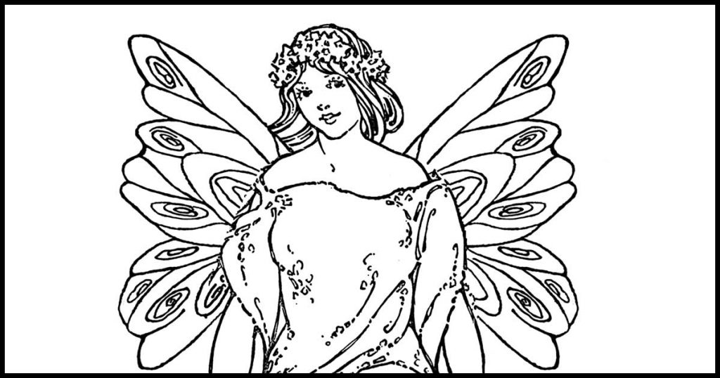Free Coloring Pages of Fairies