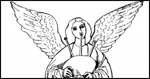 Free Coloring Pages of Angels