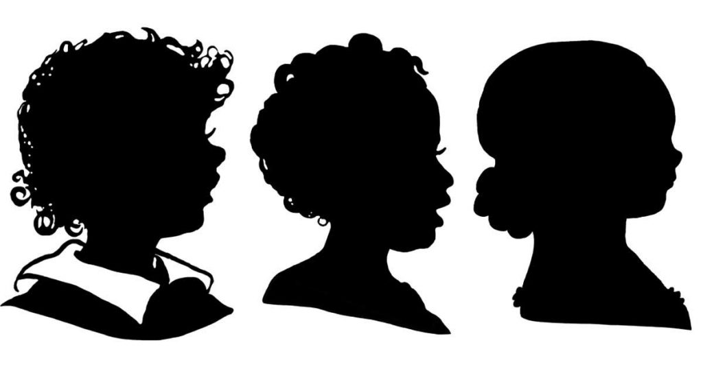 Child Head Silhouettes