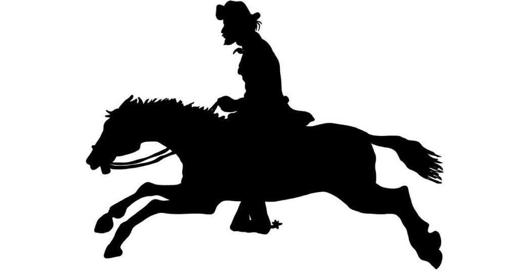 Cowboy on Horse Silhouettes