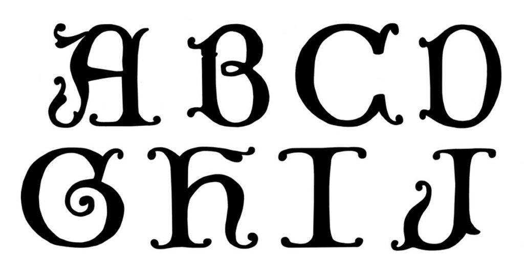 Decorative Gothic Alphabet
