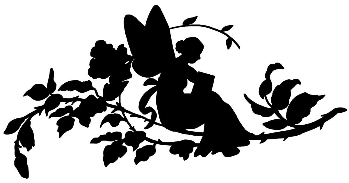 It is a picture of Free Printable Fairy Silhouette with graphics fairy