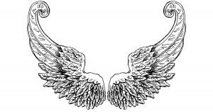 Feathered Angel Wings