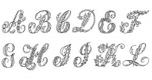 Free Fancy Letters of the Alphabet