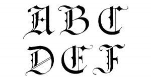 Gothic Alphabets