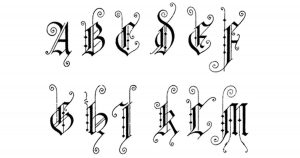 Gothic Lettering