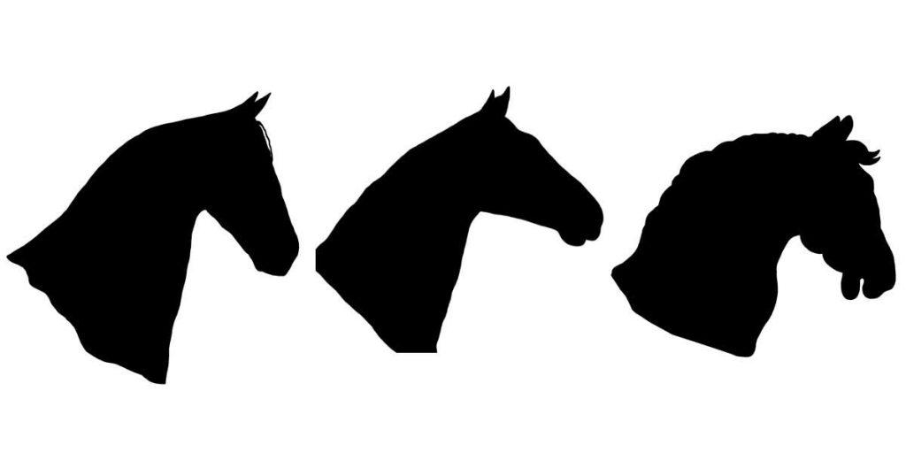 Horse Head Silhouettes