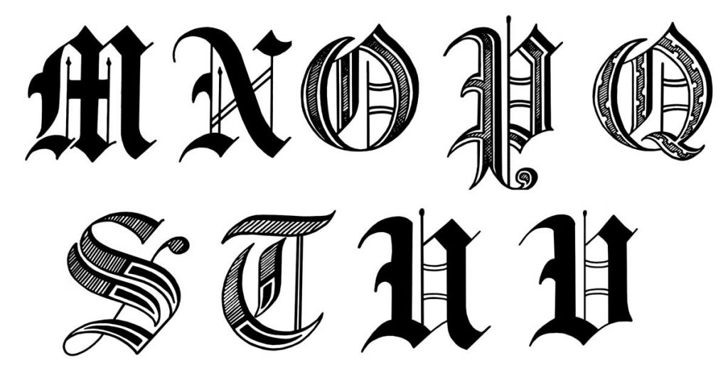 Letters In Old English